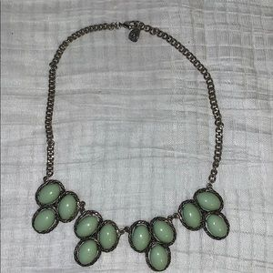 💰💰3 for 15💰Silver necklace creamy green stones